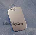 medium white gold dog tags